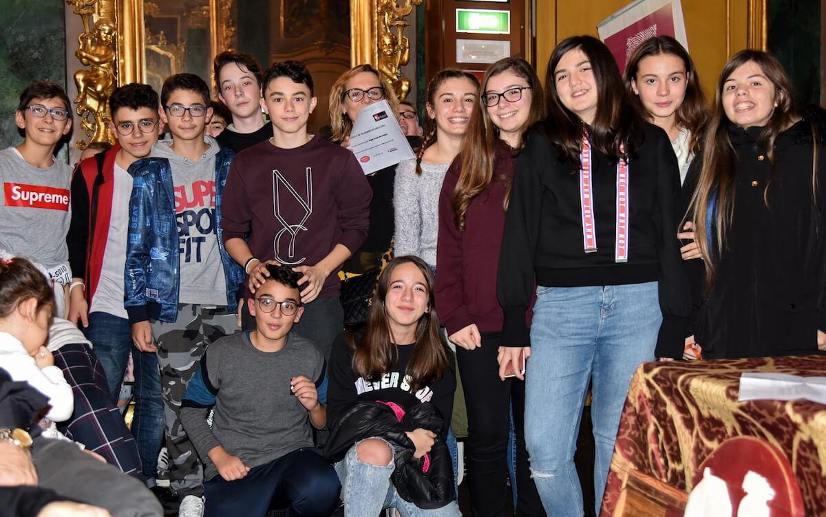 Le classi premiate al concorso Bagna Cauda alla Lavagna nel 2018
