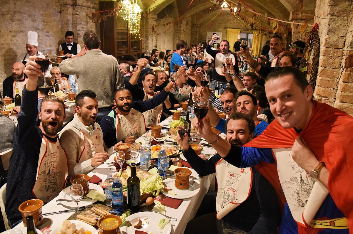 Partecipanti al Bagna Cauda Day 2018 ad Asti