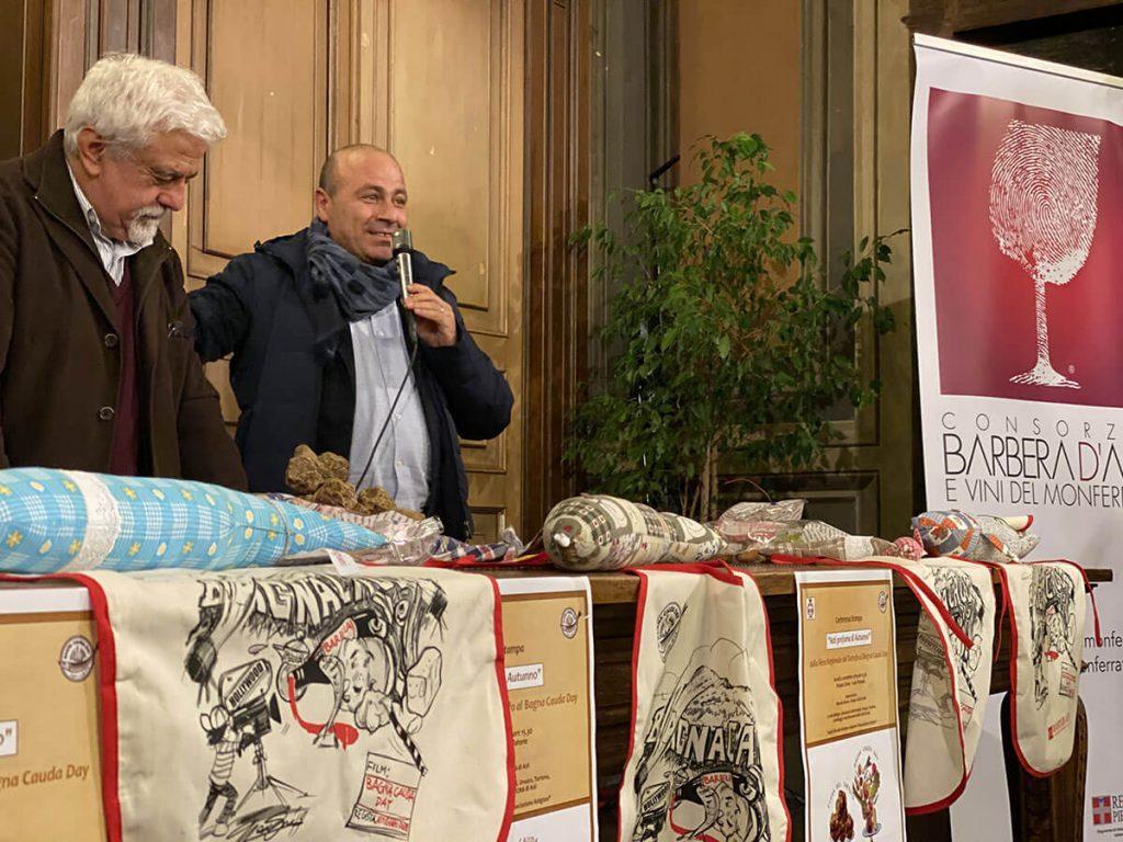 Sergio Miravalle e Filippo Mobrici alla presentazione del Bagna Cauda Day 2019