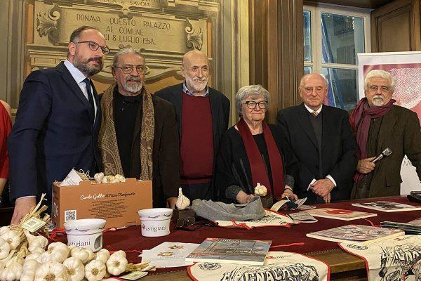 Il premio Testa d'Aj a Carlin Petrini, Margherita Oggero, Giacomo Ghiazza e Paolo Fresu